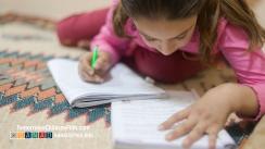 Fatima doing her homework